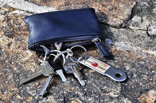 Schlüsseltasche aus Leder
